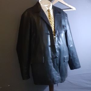 2XL Tall heavy leather topcoat Phase II